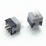 6 Pin Mini Square Self-locking Push Button 8.5x8.5mm