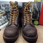 Vintage northlake logger boots made in USA size 10