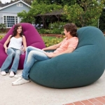 Beanless Bag Chair โซฟาเป่าลม ใหญ่ สีน้ำเงิน