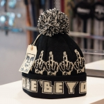 OBEY Bird Pom Pom Beanie - Black