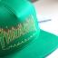 Thrasher Flame Logo Snapback Hat - Green thumbnail 4