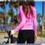 [พร้อมส่ง]ชุดว่ายน้ำแขนยาว+กางเกงขายาว+บิกินี่ เซ็ต 3 ชิ้น เสื้อสีชมพูสด สกรีนลาย thumbnail 6
