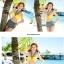 ชุดว่ายน้ำบิกินี่ทูพีช บราเหลืองส้ม+กางเกงดำแต้มจุดขาว thumbnail 4