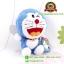 ตุ๊กตา โดเรม่อน นั่งอ้าปาก ผ้าขนหนู 7 นิ้ว [Fujiko Pro] thumbnail 3