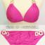 ชุดว่ายน้ำบิกินี่ทูพีช สีชมพูสวย บรา+บิกินี่แต่งห่วงเหล็กสวยๆ thumbnail 2