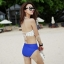 ชุดว่ายน้ำบิกินี่ทูพีช เสื้อขาวด้านหลังผูกเซ็กซี่ บิกินี่สีน้ำเงิน thumbnail 2