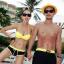 ชุดว่ายน้ำบิกินี่ทูพีช สีเหลืองดำสวยๆ thumbnail 1