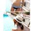 ชุดว่ายน้ำบิกินี่ทูพีช ลายเส้นสลับสีสวย ขายพร้อมชุดแซกเกาะอกลายขวาง thumbnail 3