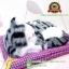 ตุ๊กตาแมวเหมือนจริงนอนหลับ สีเทาดำ 17x20 CM thumbnail 5