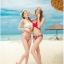 [พร้อมส่ง]ชุดว่ายน้ำบิกินี่ทูพีช บราสีขาว+บิกินี่ลายดอกกุหลาบแดงสวยๆ thumbnail 8