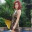 ชุดว่ายน้ำ Tankini ตัวยาว ลำตัวผ้าซีทรู ลายเสือสวยเซ็กซี่ thumbnail 3