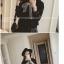 [รหัส B6596] เสื้อผ้าแฟชั่นพร้อมส่ง เสื้อแขนยาวแฟชั่น ผ้า Cloth Cotton ปักไข่มุกที่แขนเสื้อ แบบสวม สีดำ thumbnail 3
