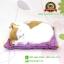 ตุ๊กตาแมวเหมือนจริงนอนหลับ สีขาวเหลือง 17x20 CM thumbnail 1