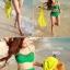 ชุดว่ายน้ำเอวสูง สีเขียว แต่งลายผ้าซีทรูสวยๆ thumbnail 3
