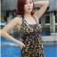 ชุดว่ายน้ำ Tankini ตัวยาว ลำตัวผ้าซีทรู ลายเสือสวยเซ็กซี่ thumbnail 1