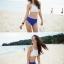 ชุดว่ายน้ำบิกินี่ทูพีช เสื้อขาวด้านหลังผูกเซ็กซี่ บิกินี่สีน้ำเงิน thumbnail 5