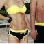 ชุดว่ายน้ำบิกินี่ทูพีช สีเหลืองดำสวยๆ thumbnail 4