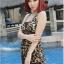 ชุดว่ายน้ำ Tankini ตัวยาว ลำตัวผ้าซีทรู ลายเสือสวยเซ็กซี่ thumbnail 2