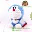 ตุ๊กตา โดเรม่อน นั่งยิ้ม ผ้าขนหนู 7 นิ้ว [Fujiko Pro] thumbnail 2