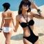 ชุดว่ายน้ำวันพีช สีดำ สายคล้องคอ เอวเว้าลึกสวยเซ็กซี่มากๆ thumbnail 2