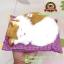 ตุ๊กตาแมวเหมือนจริงนอนหลับ สีขาวเหลือง 17x20 CM thumbnail 6