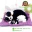 ตุ๊กตาหมาเหมือนจริงนอนหลับบนเบาะกับลูก สีดำ 25x30 CM thumbnail 2