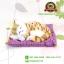 ตุ๊กตาแมวเหมือนจริงนอนหลับ สีเหลืองมีลาย 17x20 CM thumbnail 1