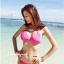 ชุดว่ายน้ำบิกินี่ทูพีช สีชมพูสวย บรา+บิกินี่แต่งห่วงเหล็กสวยๆ thumbnail 4