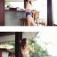 ชุดว่ายน้ำบิกินี่ทูพีช เสื้อขาวด้านหลังผูกเซ็กซี่ บิกินี่สีน้ำเงิน thumbnail 4