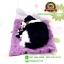 ตุ๊กตาหมาเหมือนจริงนอนหลับบนเบาะกับลูก สีดำ 25x30 CM thumbnail 4
