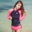 ชุดว่ายน้ำแขนยาว กางเกงขาสั้นสีชมพูบานเย็นสวยๆ thumbnail 1