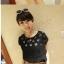 [รหัส B77402] เสื้อผ้าแฟชั่นพร้อมส่ง เสื้อแฟชั่น ผ้าชีฟอง ฉลุลายดอกไม้ แบบสวม สีดำ (ไม่รวมเสื้อตัวใน) thumbnail 3