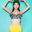 ชุดว่ายน้ำเอวสูง บราลายดอกทานตะวัน กางเกงสีเหลืองสวยๆ thumbnail 1