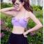 ชุดว่ายน้ำเอวสูง บราสีม่วงพาสเทล+กางเกงสีดำแต่งด้วยผ้าลูกไม้ซีทรู thumbnail 3