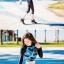 [พร้อมส่ง]ชุดว่ายน้ำแขนยาว+ขายาวกางเกง5ส่วน+บีกินี เสื้อโทนสีฟ้าม่วง กางเกงสีดำ thumbnail 6