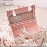 """กระเป๋าสะพายดีไซน์วินเทจ UNIWALKER """"Pink Blossom"""" for Summer 2017 Luggage&Suitcase หนัง PU คุณภาพดี ไซส์ 13 นิ้ว (Pre-order)"""