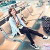 """กระเป๋าเดินทางล้อลากลายจุด PC+ABS Lovely Candy Polka dot Korea Style """"BLACK"""" มี 2 ไซส์ คือ 20""""(Pre-order) และ 24""""(พร้อมส่ง) ราคาสินค้าด้านในนะคะ"""