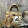 KEEP ( Saffiano Office Hand Bag With Frink Key-Right Gold )