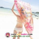BW017 ผ้าคลุมเดินชายหาด ชมพู【พร้อมส่ง】