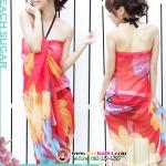 BW029 ผ้าคลุมเดินชายหาด hot lady สีแดง【พร้อมส่ง】