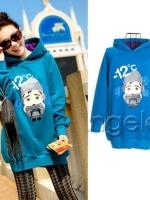 ++สินค้าพร้อมส่งค่ะ++ เสื้อกันหนาวแฟชั่นเกาหลี แขนยาว มี Hood ผ้า cotton cashmere เนื้อดีมากค่ะ หนาและอุ่นค่ะ สกรีนด้านหน้า-12 – สีน้ำเงิน