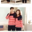 Pre Order ชุดนอนคู่รัก แขนยาว ขายาว ลายขวาง มีกระเป๋าหน้า thumbnail 2