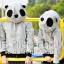 Pre Order เสื้อกันหนาวคู่รัก มีฮู้ดเป็นหมีแพนด้า แต่งกระเป๋าเสื้อ2ข้าง <มี2สี> thumbnail 1