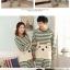 Pre Order ชุดนอนคู่รัก แขนยาว ขายาว ลายขวางน้องเหมียว thumbnail 2