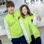 Pre Order เสื้อแจ็ตเก็ตคู่รักแฟชั่นเกาหลี แนวเสื้อเบสบอล แต่งกระดุมหน้า ปักลาย NY มี6สี thumbnail 1