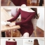 Pre Order ชุดเดรสผ้าฝ้ายถัก สไตล์เกาหลี แขนยาวคอปาดเซกซี่ thumbnail 2