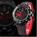 SH080 Shark Black Red