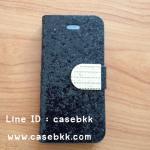 เึคสไอโฟน4/4s เคสกากเพชรสีดำ