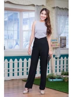 กางเกงผ้าขายาวสีดำดูดีมากๆ