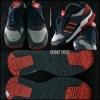 ADIDAS สีเทาดำคาดแดง สภาพ 90% size 41.5
